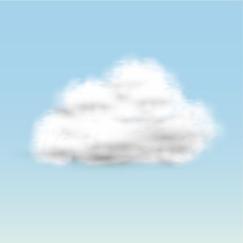 Realistiska moln, vektor
