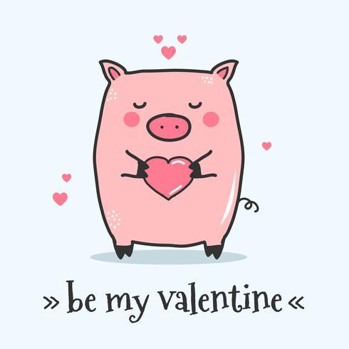 Sei mein Valentine-Vektor vektor