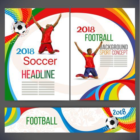 Fußball-Pokal 2019 fußball meisterspiele. vektor