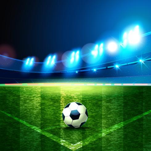 Fotbollsarena. vektor