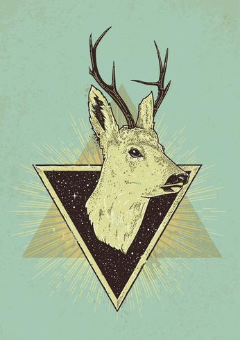 Hjort Hipster Art vektor