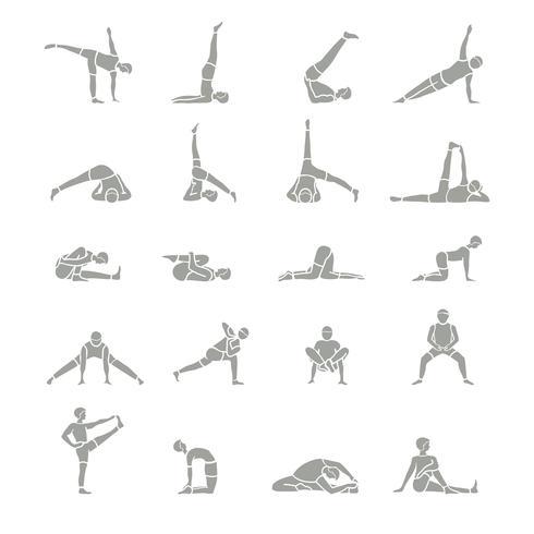 Yoga Positions Ikoner vektor