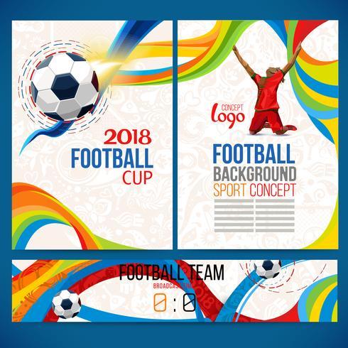 Bakgrundskoncept av spelare med fotbollskula. vektor