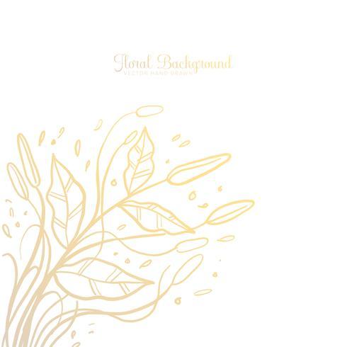 Hand gezeichneter dekorativer Blumenhintergrund vektor