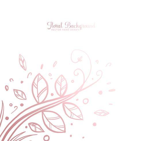 Handdragen Dekorativ Blom Bakgrund vektor