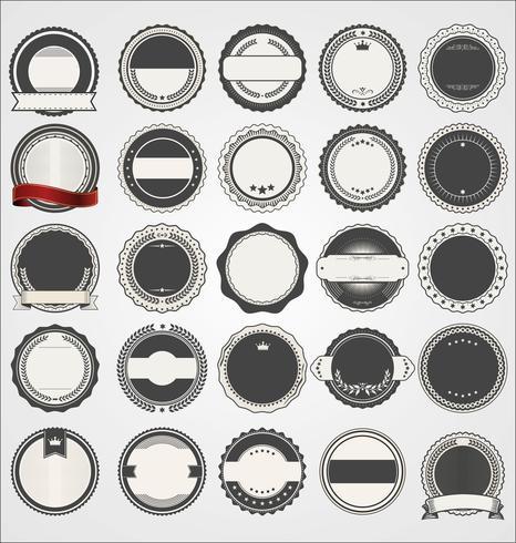 Retro vintage märken och etikettsamling vektor