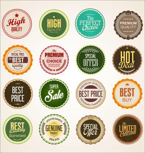 Moderna försäljningsbanners och etikettsamling vektor
