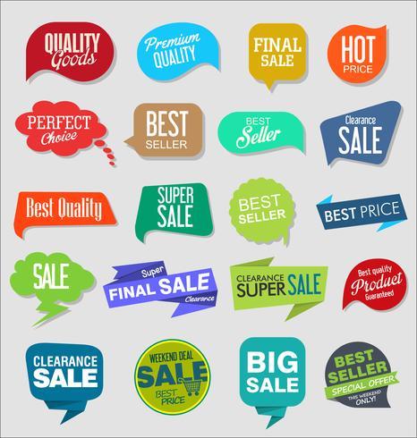 Weinlese-Art-Verkauf etikettiert Designvektorsammlung vektor