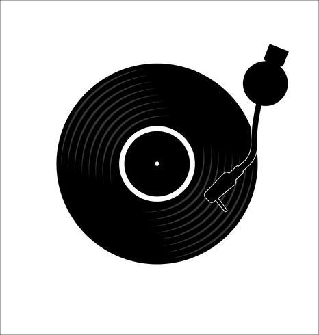 vinyl plåt skiva platt enkel koncept vektor illustration