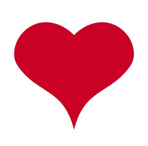 Herz, Symbol der Liebe und Valentinstag. Flache rote Ikone lokalisiert auf weißem Hintergrund. Vektor-Illustration - Vektor
