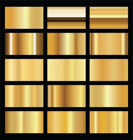 Realistische Goldhintergrundbeschaffenheitsvektor-Illustrationssammlung vektor