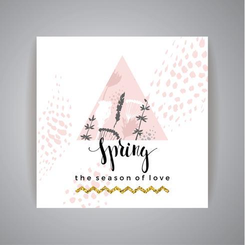 Künstlerische kreative Hand gezeichneter Frühlingsentwurf vektor
