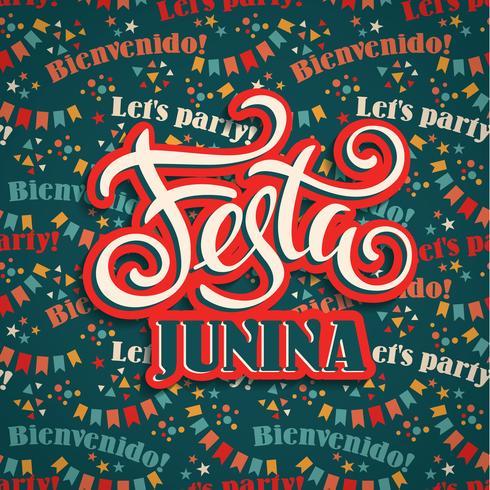 Lateinamerikanischer Feiertag, die Juniparty von Brasilien. vektor
