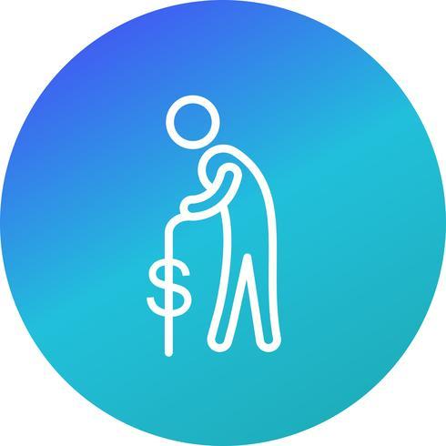 Pension-Vektor-Symbol vektor