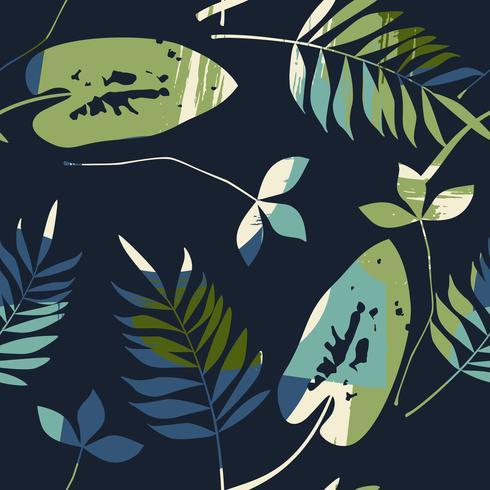 Abstraktes nahtloses Muster mit Blättern. Vektorhintergrund für verschiedene Oberfläche. vektor