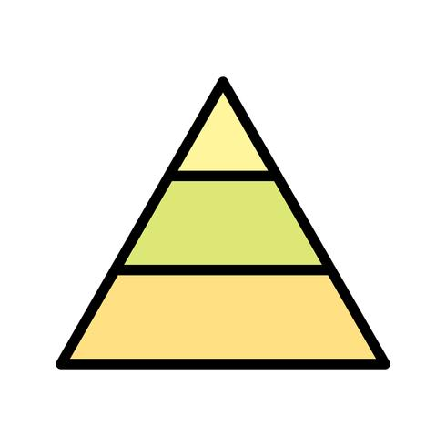 Pyramide-Vektor-Symbol vektor