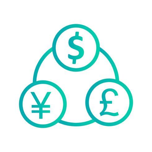 Geldfluss-Vektor-Symbol vektor