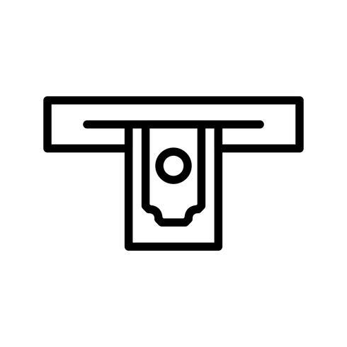 Bargeldbezug-Vektor-Symbol vektor