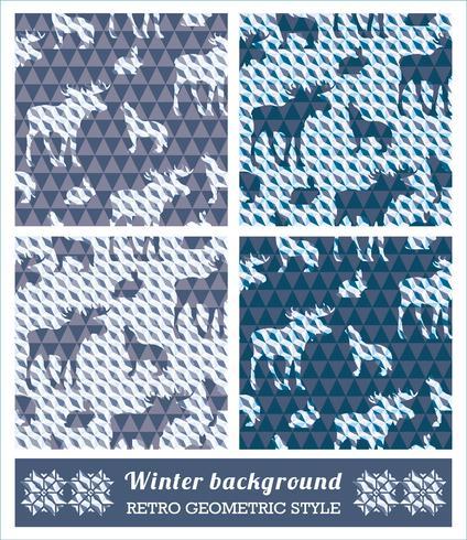 Winter geometrische nahtlose Muster. vektor