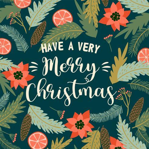 Weihnachten und Happy New Year Illustration. Vektor-Design-Vorlage. vektor