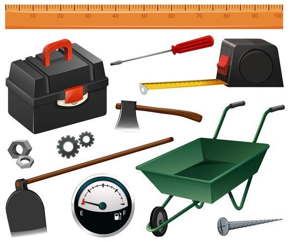 Bygg- och trädgårdsredskap vektor