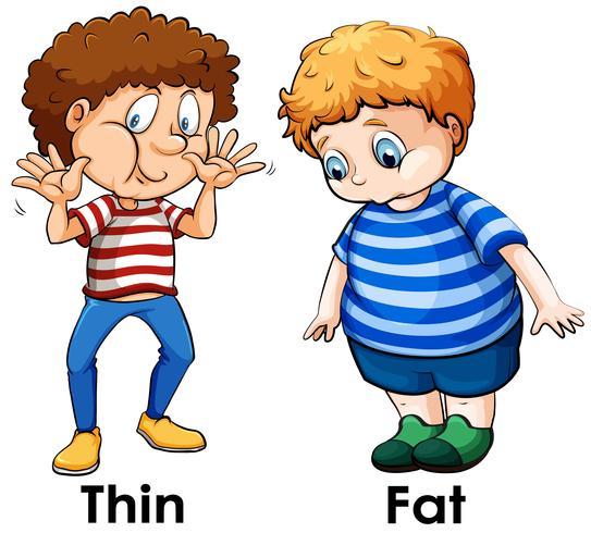 En jämförelse mellan pojkens kropp vektor