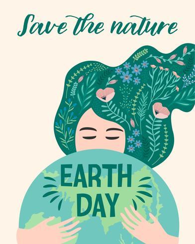 Jordens dag. Vektor illustration.
