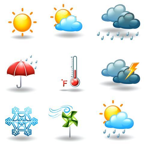 Unterschiedliche Wetterbedingungen vektor