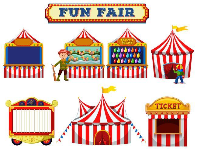Eine Reihe von Fun Fair Zelt vektor