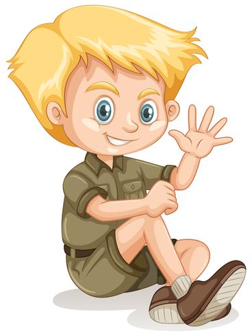En ung blond pojke Scout vektor