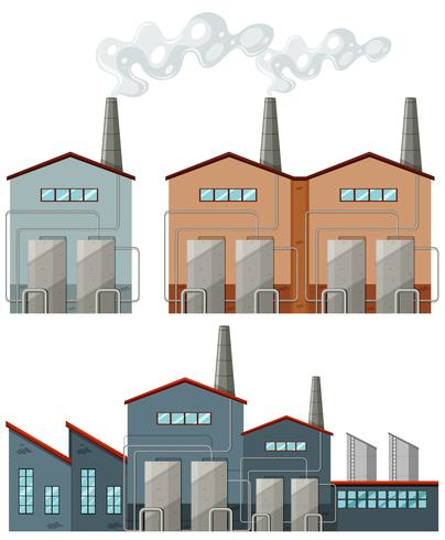 Fabriksbyggnader med skorstenar vektor