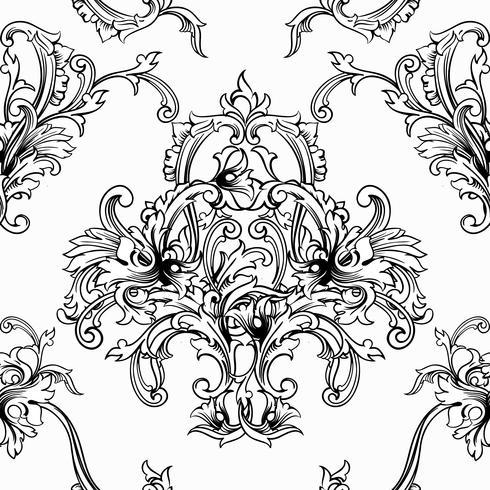 Nahtloser vektorhintergrund. Barockes Muster vektor