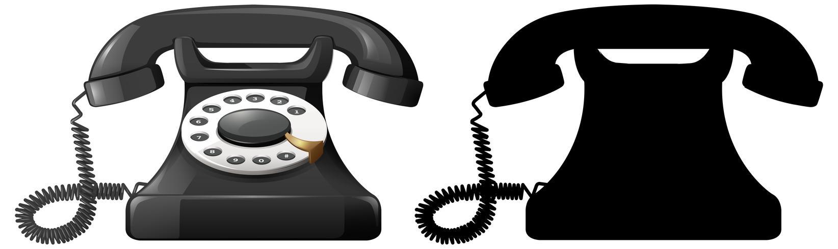 Sats med telefondesign vektor