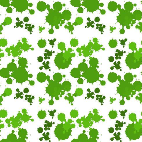 Seamless bakgrundsdesign med grön stänk vektor