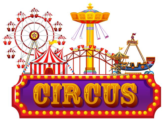 Ein Zirkus-Banner mit Spaßmesse vektor