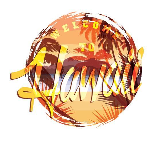 Tropischer Strandsommerdruck mit Slogan vektor