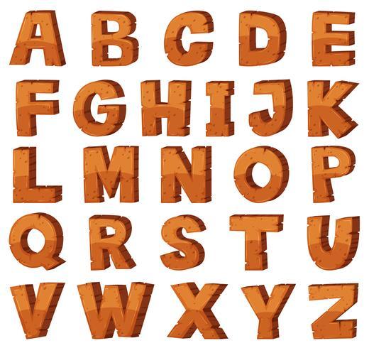 Teckensnittsdesign för engelska alfabeter med stenstruktur vektor