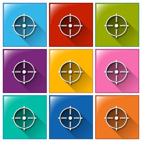 Mål ikoner vektor