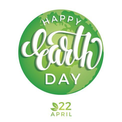 Tag der Erde-Tagkonzept mit Planet Erde. vektor