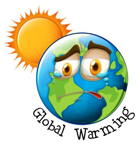 Ikon för global uppvärmning vektor