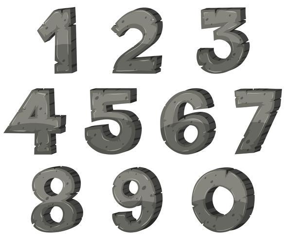 Blockbokstavsdesign för nummer vektor