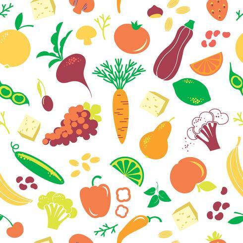 Vektornahtloses Muster mit Gemüse. vektor