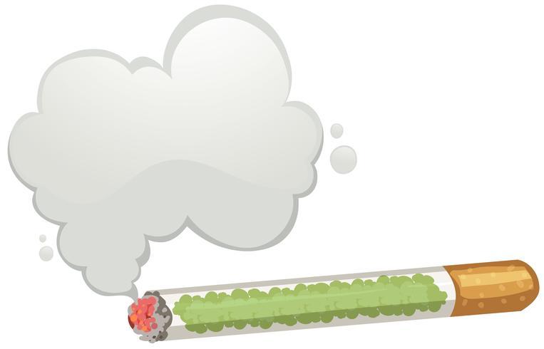 En cigarett- och rökmall vektor