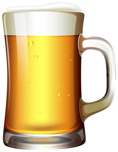 Ein großes Pint Bier vektor