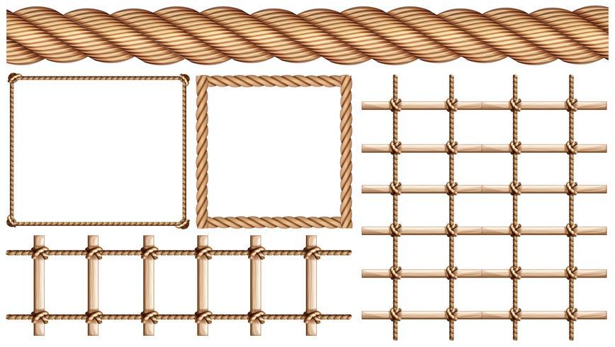Seil und viele Anwendungen von Seil vektor