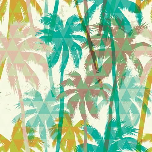 Tropischer Sommerdruck mit Palme. Nahtloses Muster vektor