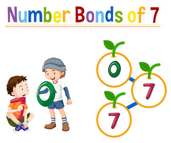 Anzahl Anleihen von sieben vektor