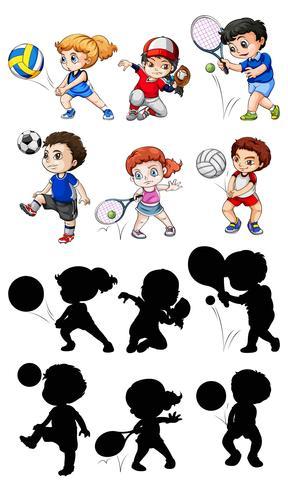 Satz von Athletencharakter vektor