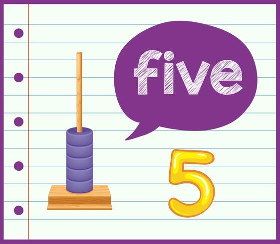 räkna till fem koncept vektor