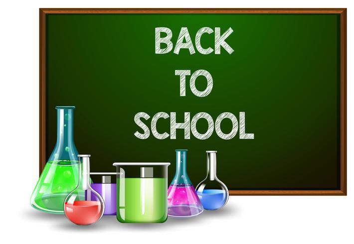 Zurück zu Schule und Laborausstattung vektor